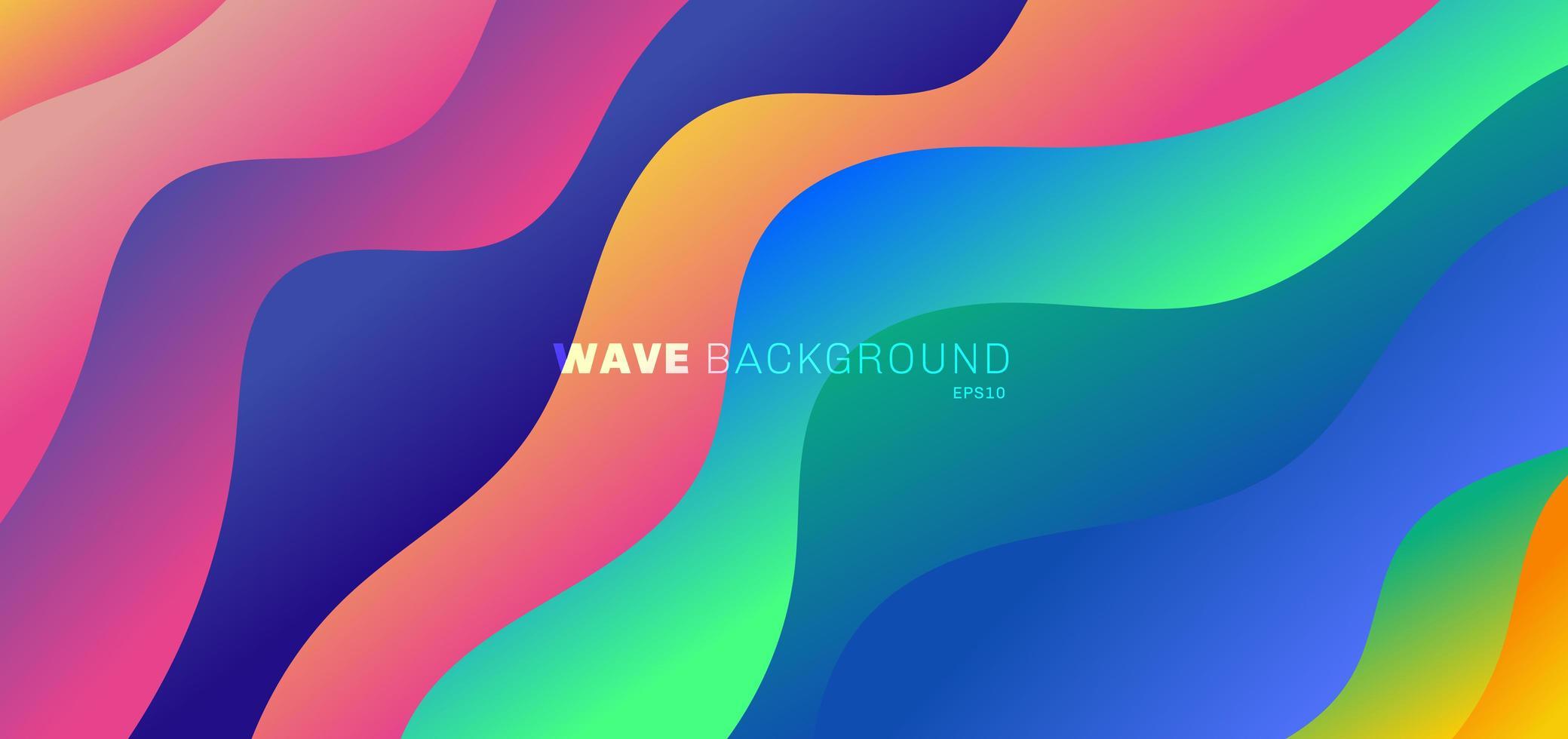 Fondo abstracto moderno vibrante color degradado ondas vector