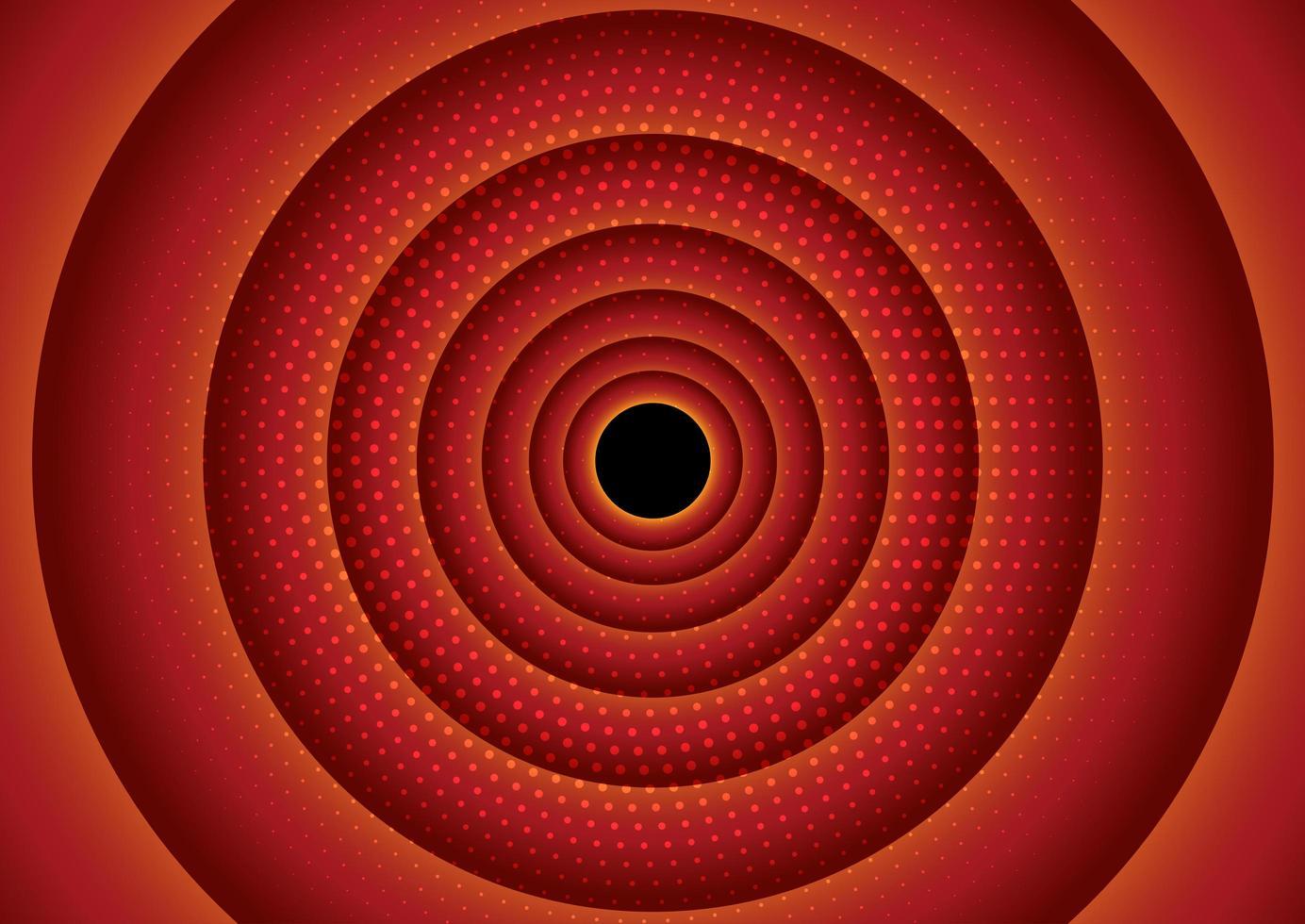 diseño circular de semitono rojo vector