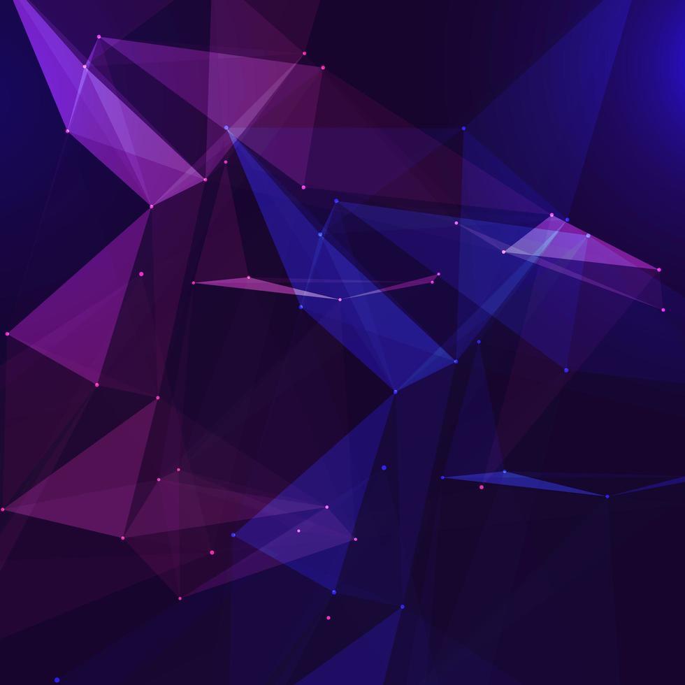 diseño abstracto de baja poli conexiones vector