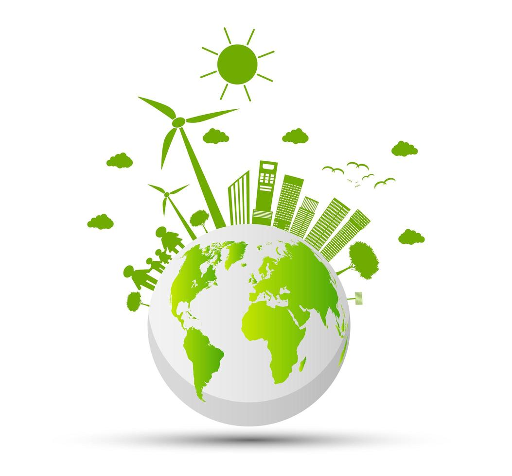 Global Ecology and Environmental Concept vector