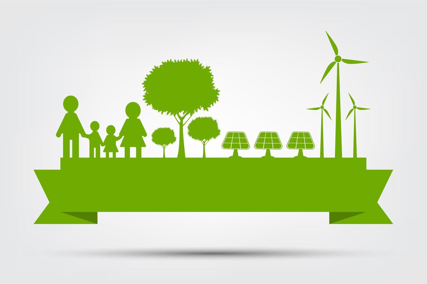 concepto abstracto eco verde vector