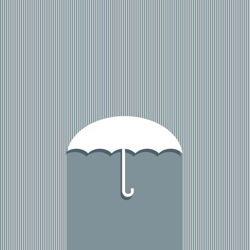 diseño de concepto paraguas vector