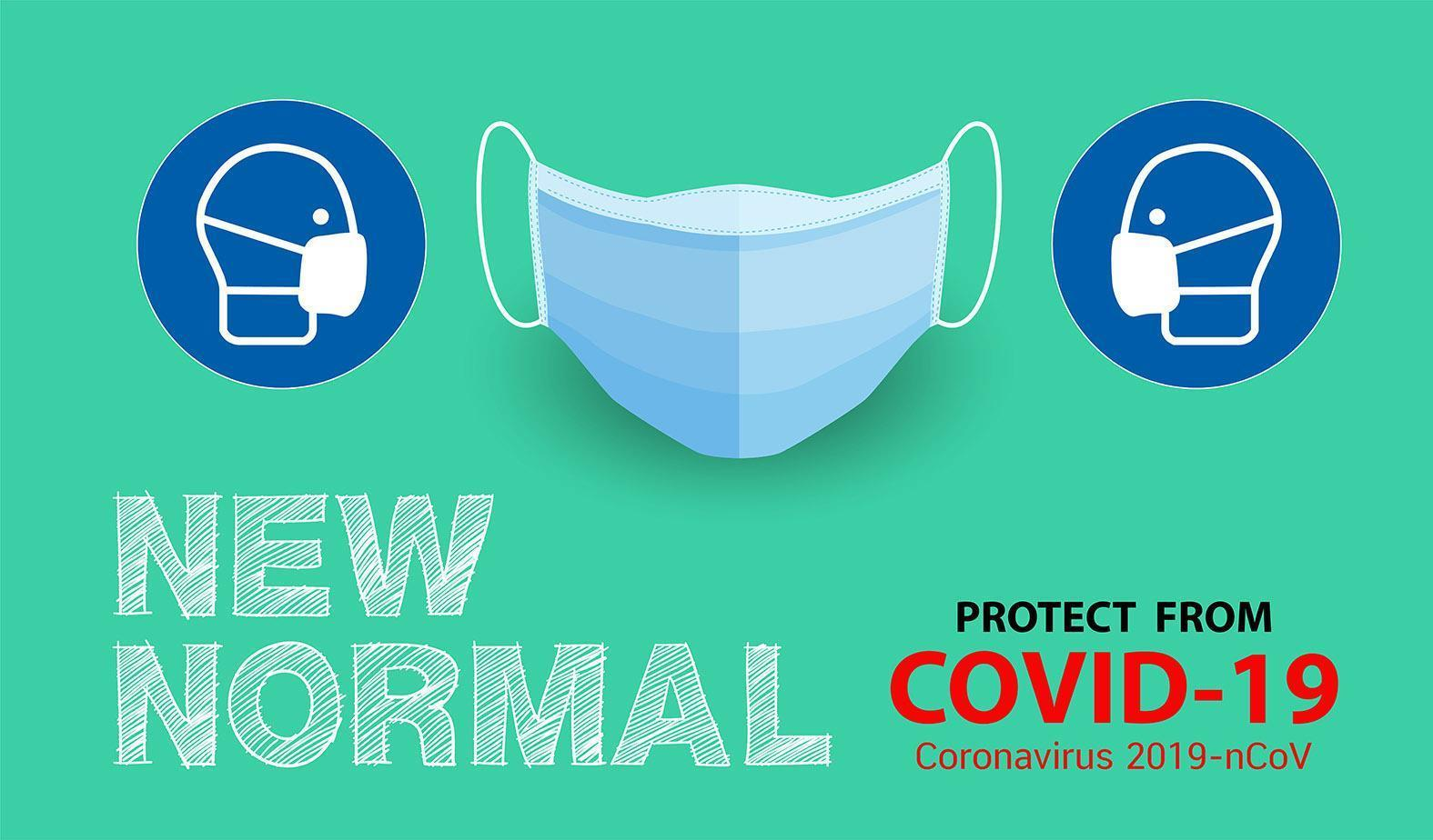 New normal, protection from disease poster vector