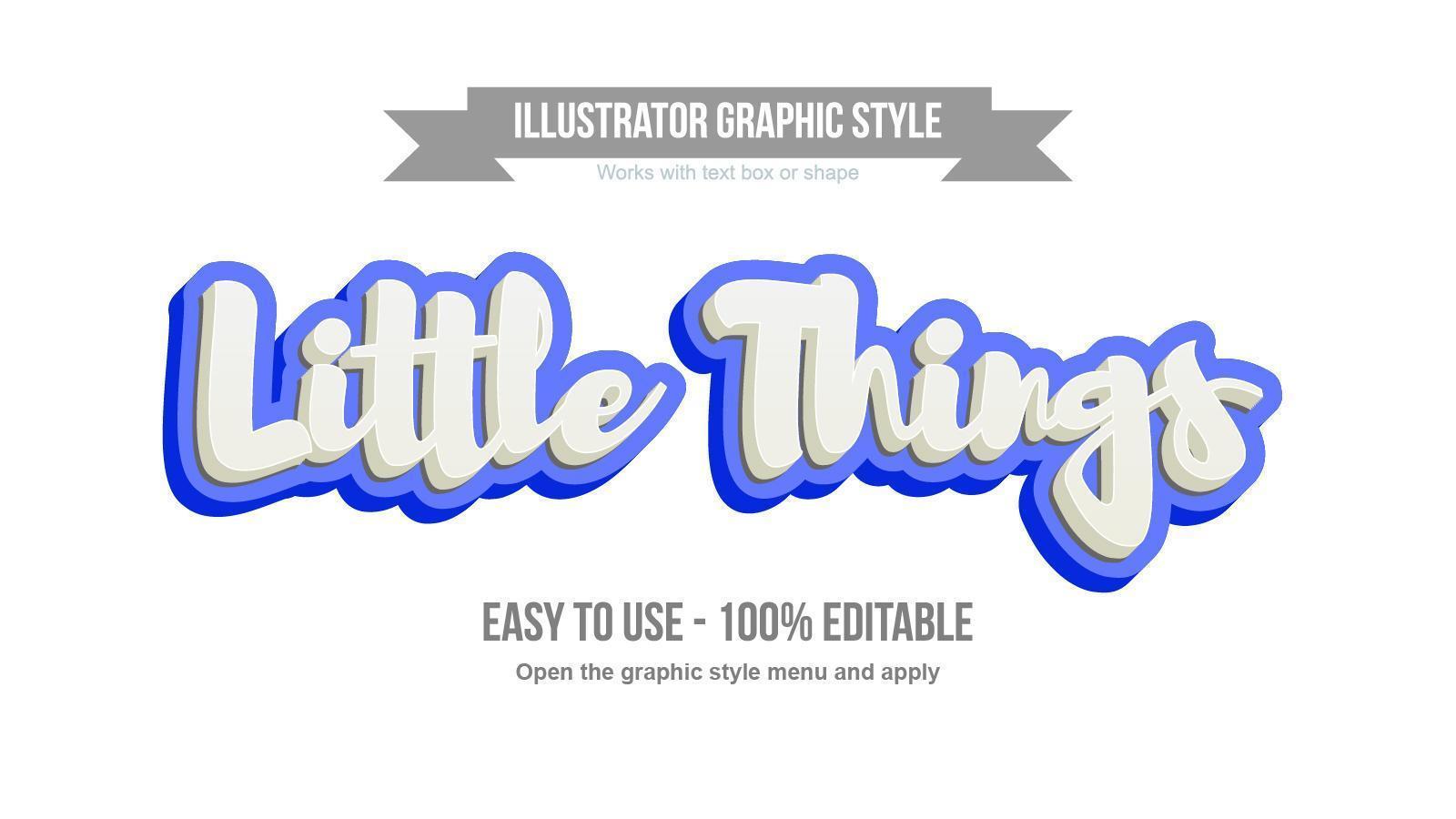 White and blue 3D cute handwritten text effect vector