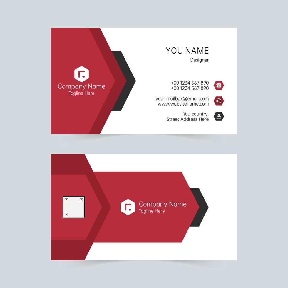 Red and White Business Card vector
