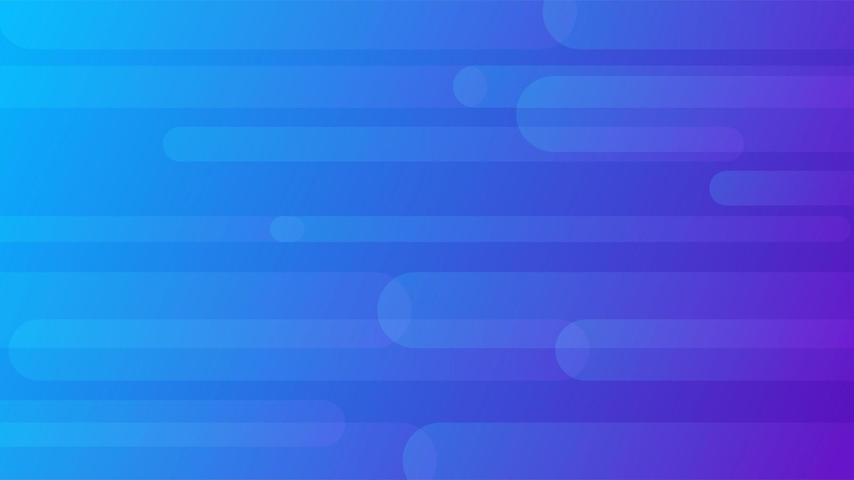 diseño de rayas redondeadas dinámicas degradado azul púrpura vector