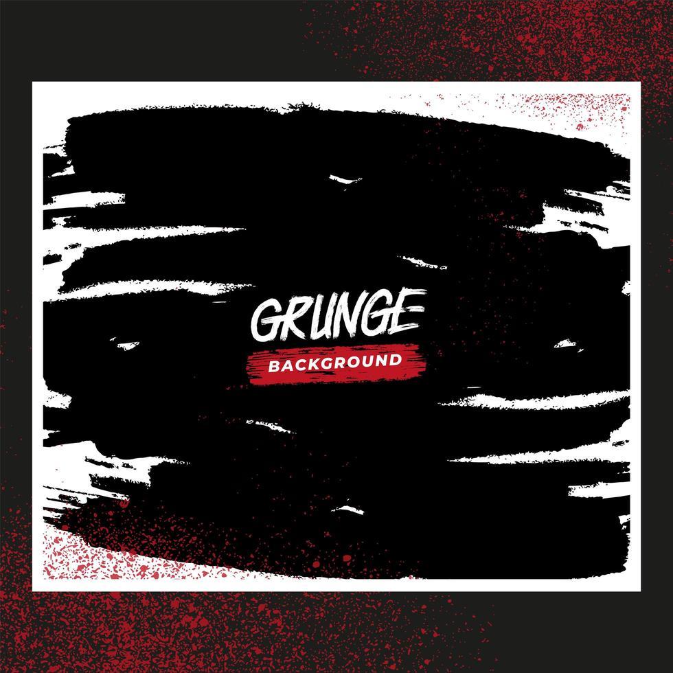 marco blanco grunge con salpicaduras rojas vector