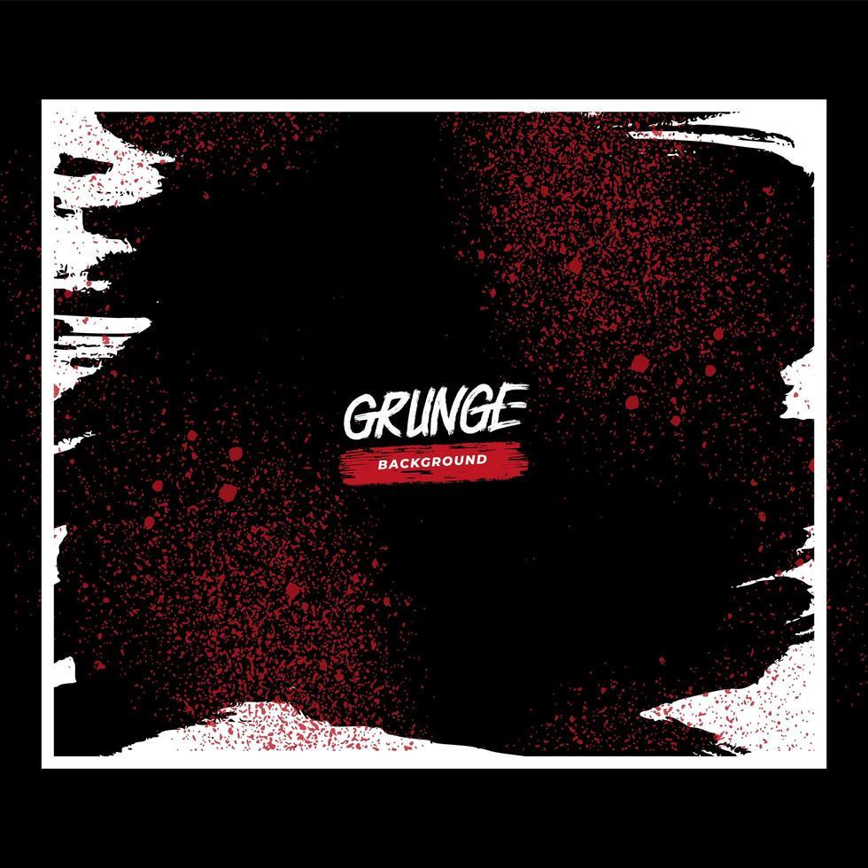 salpicadura de grunge rojo en marco blanco vector