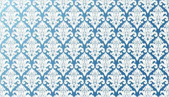 papel pintado azul filigrana adornado vector