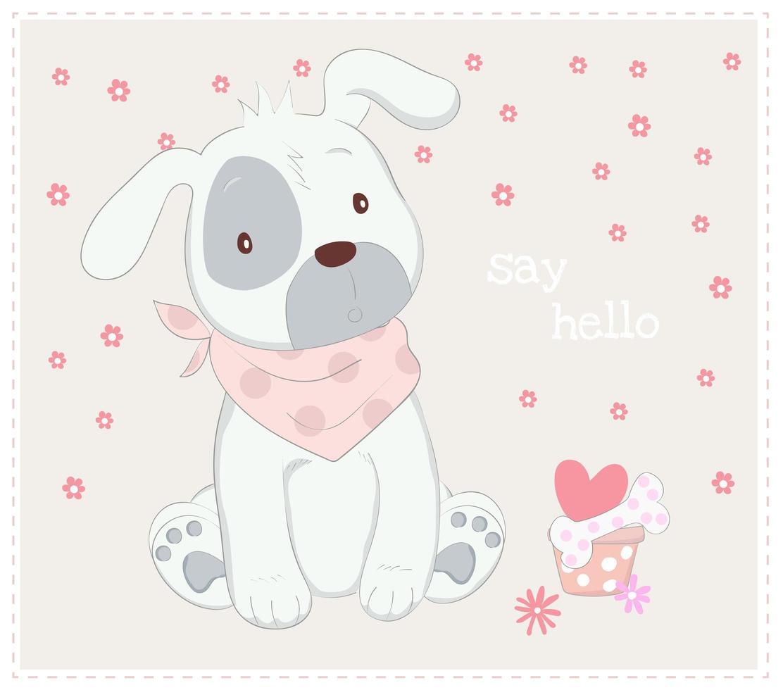 cachorro con bufanda vector