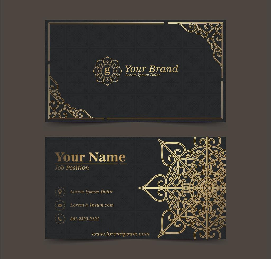 Gold Mandala Business card vector