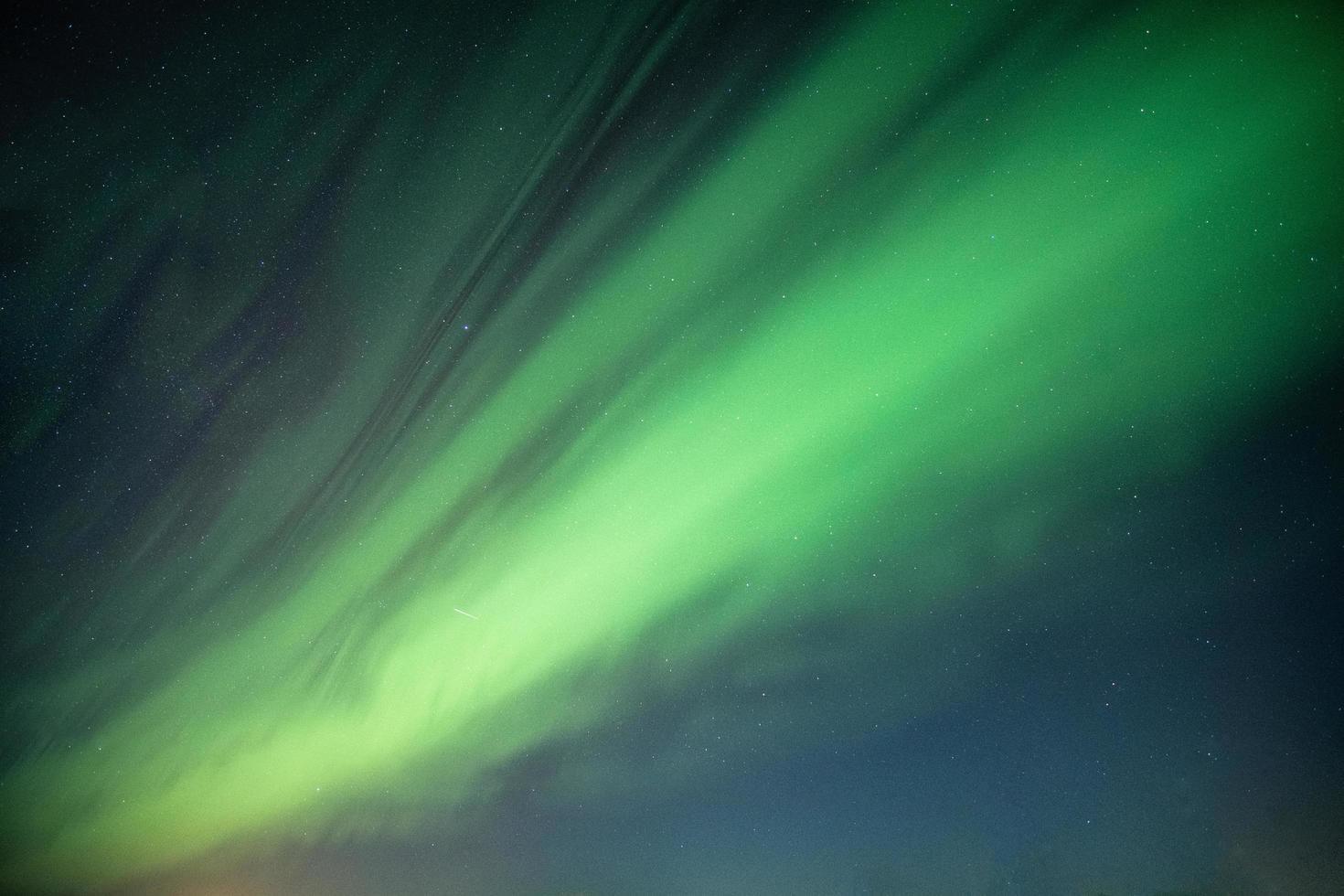 Northern lights in night sky photo