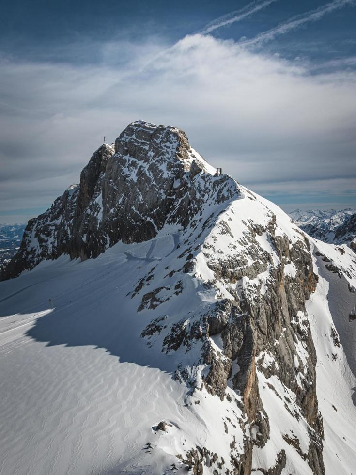 Mountain peak in the Alps photo