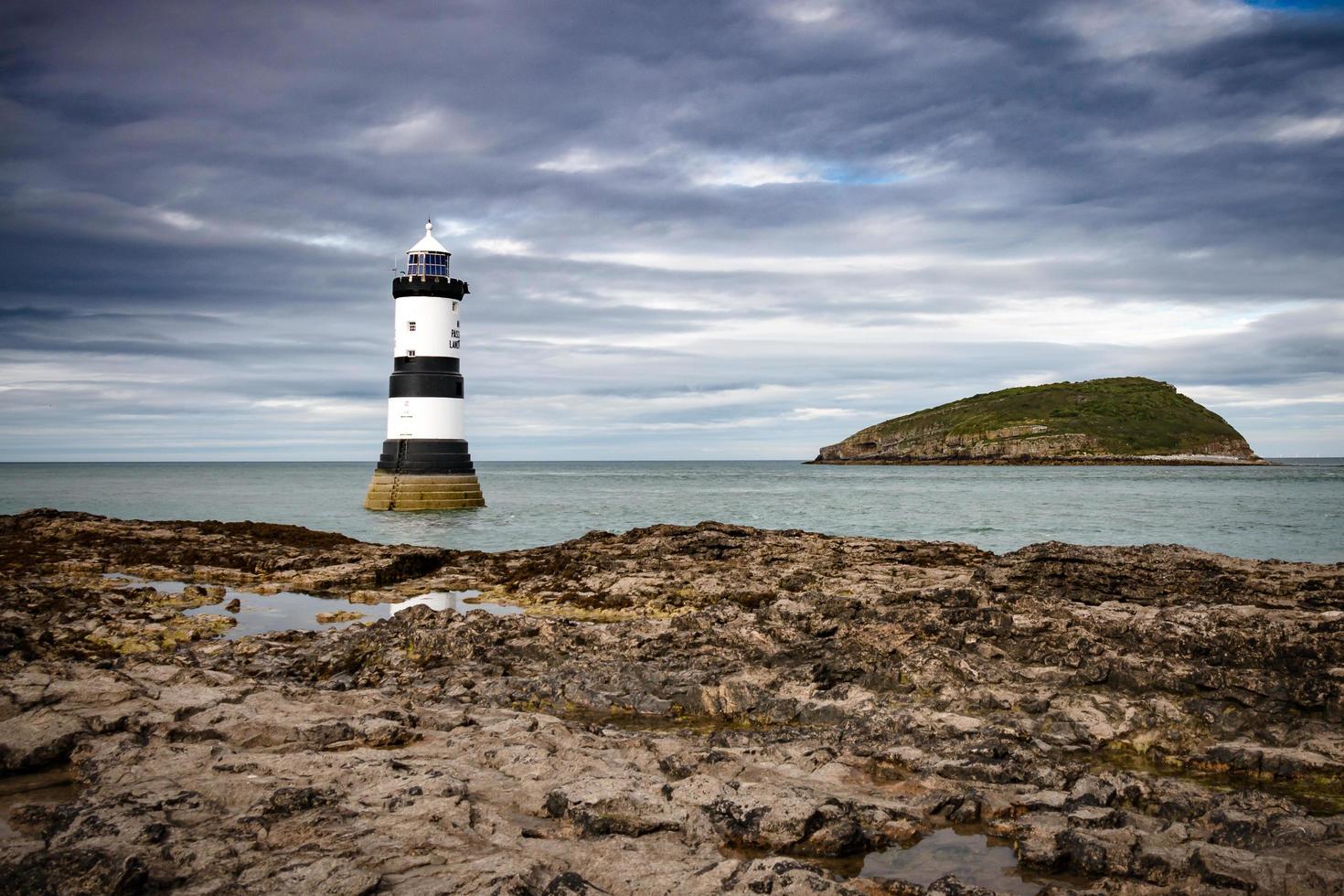 Lighthouse near Puffin island photo
