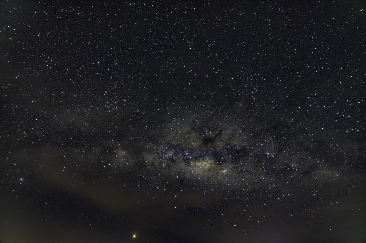 Starry night sky with Milk Way photo