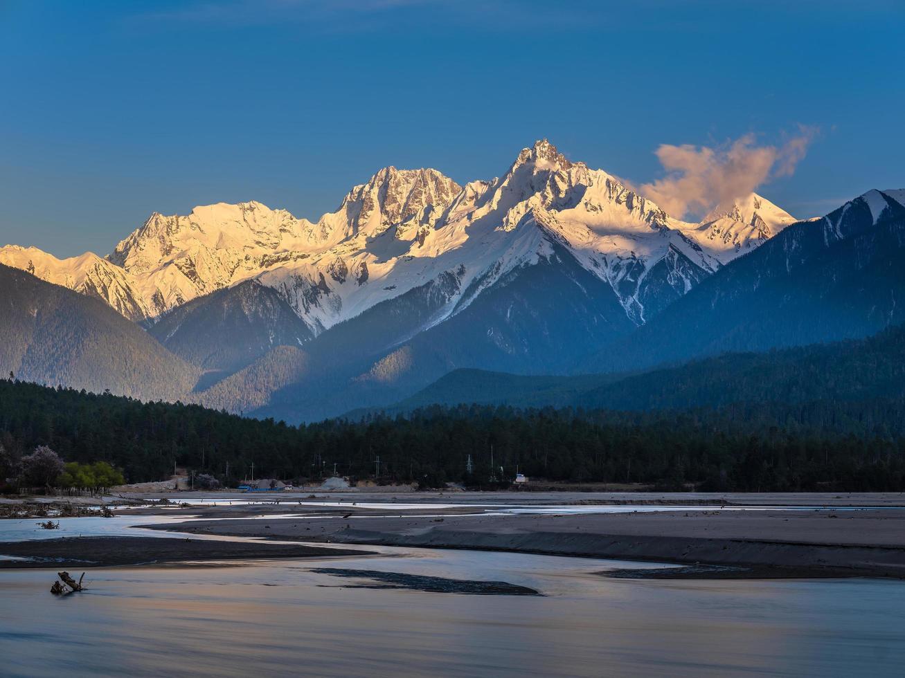View of Himalayan mountains photo
