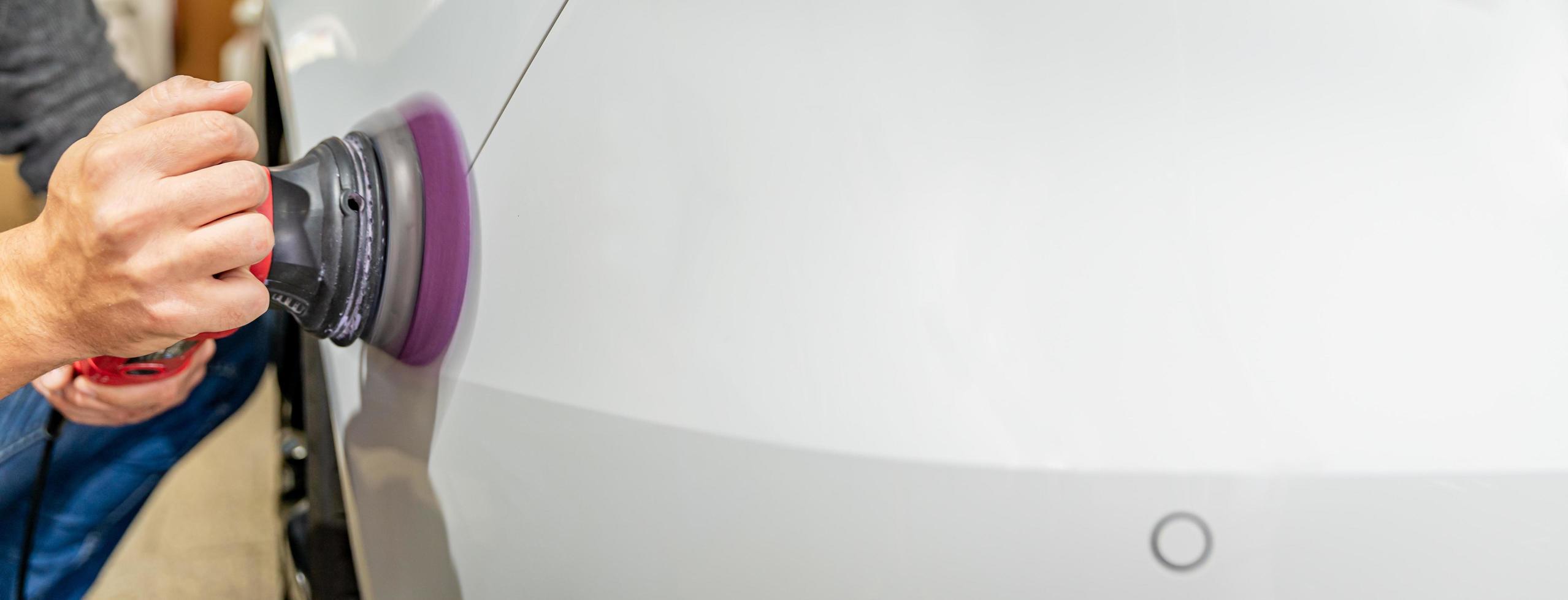 Car body repair polishing photo