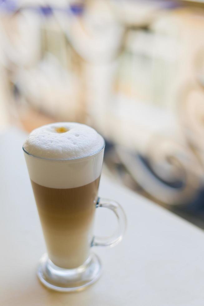 Delicious cappuccino with foam photo