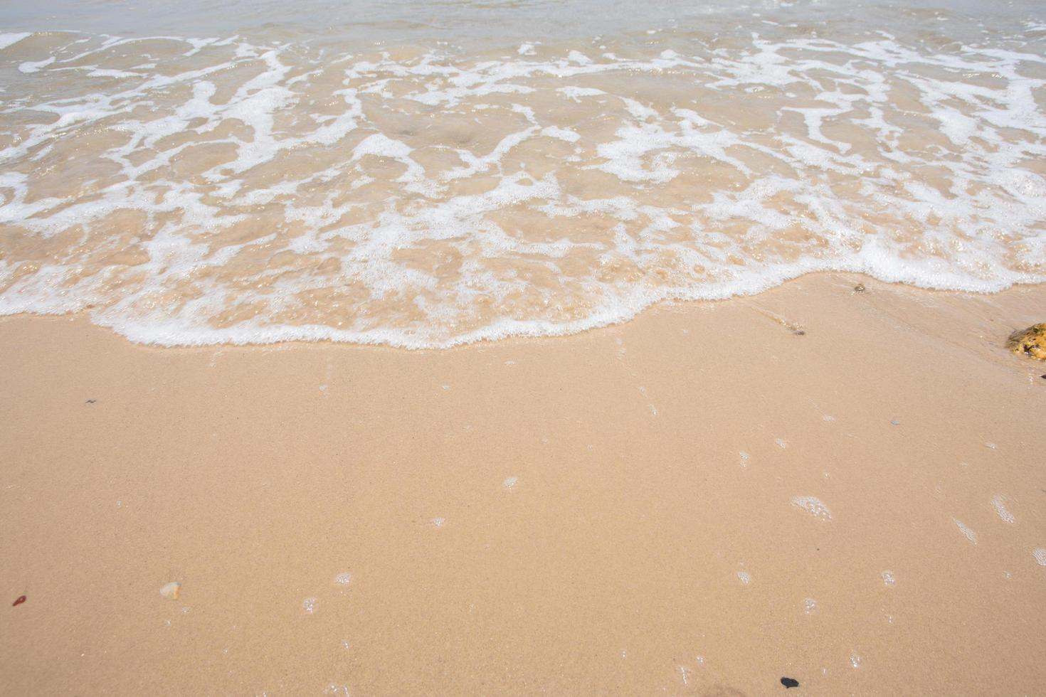 Beach sand and wave photo