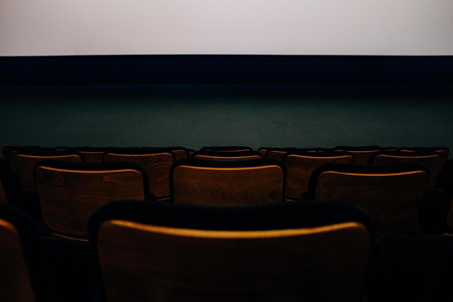 Theater seat backs photo