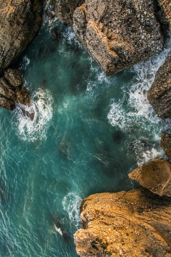 Aerial view of ocean photo