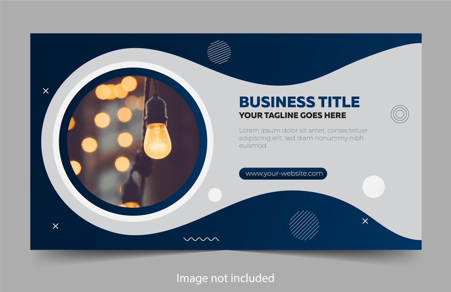 Business banner design with wavy blue shapes vector