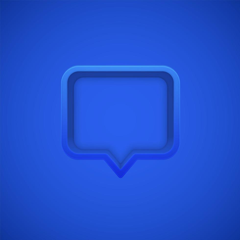 bocadillo azul vector