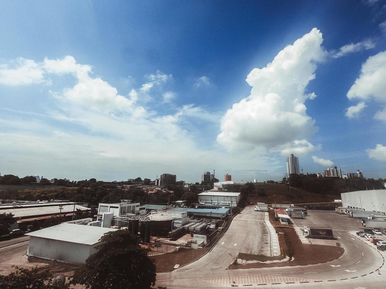 Industrial area skyline zone photo
