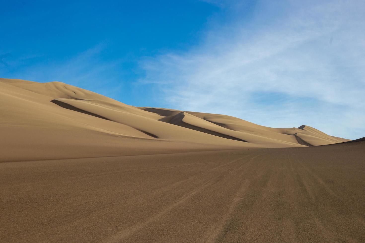 Brown sand dunes photo