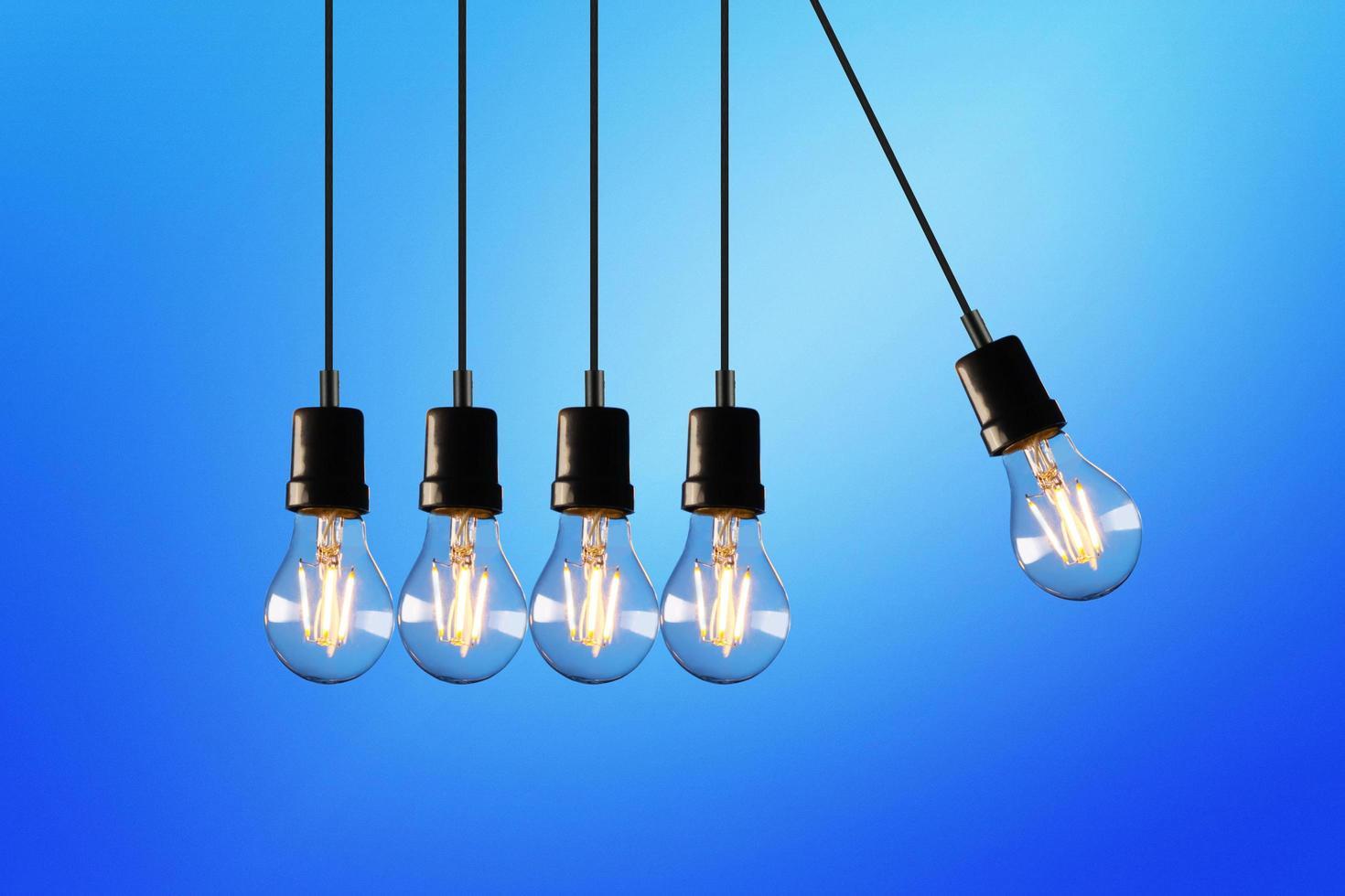 Five light bulbs photo