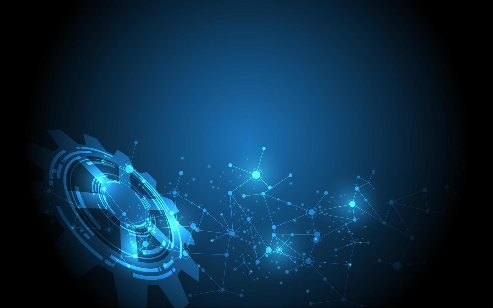 diseño abstracto azul tecnología de comunicación vector