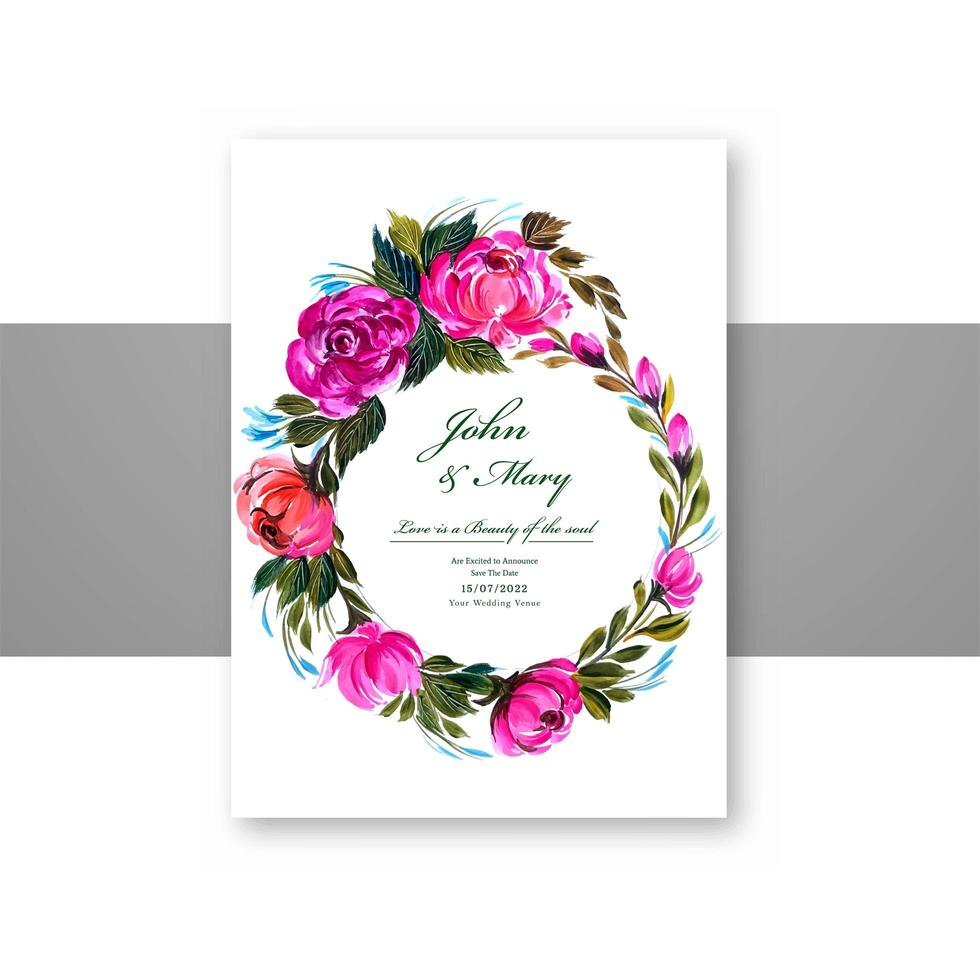 Lovely Circular Flowers Wedding Card Frame Download Free Vectors Clipart Graphics Vector Art