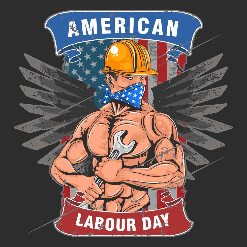 dia del trabajo americano vector