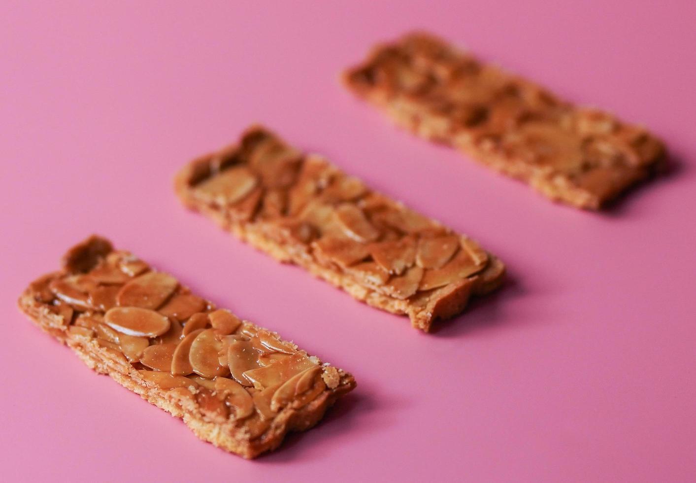 Three caramel biscuits photo
