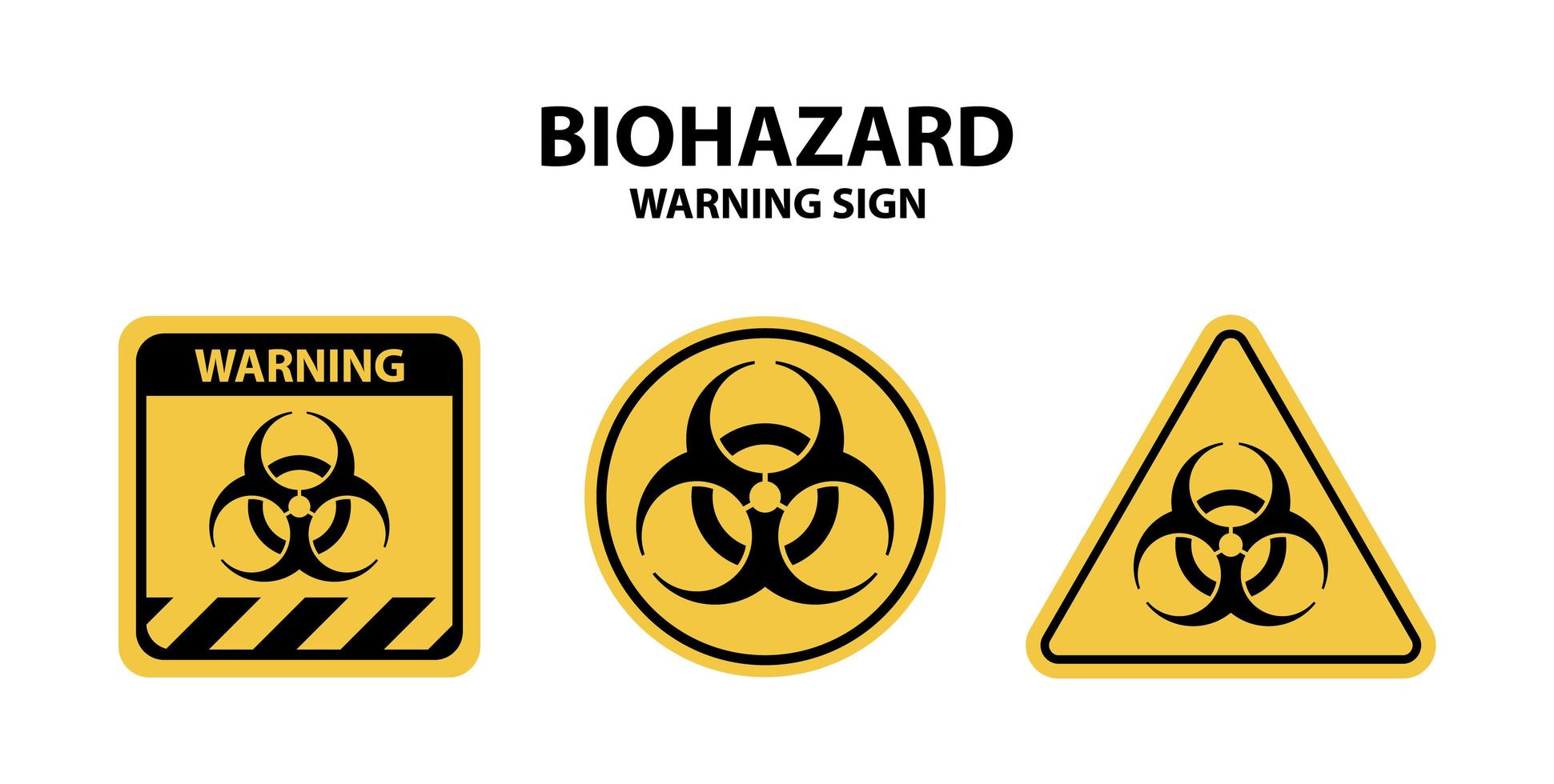 conjunto de sinal de aviso de risco biológico vetor