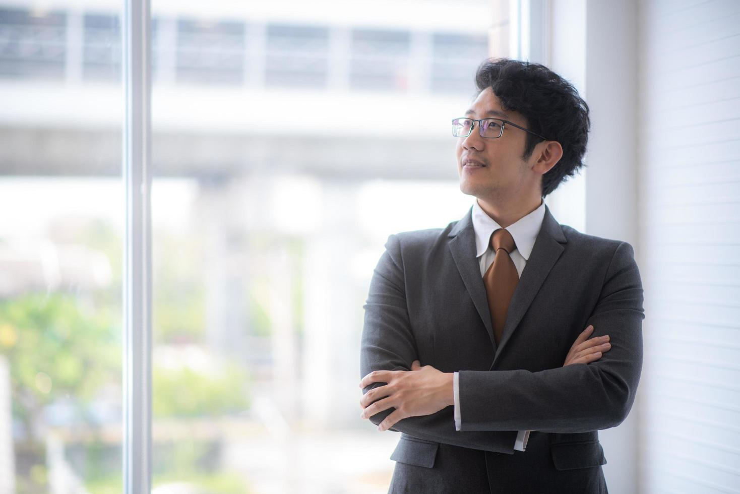 Businessman in a suit photo