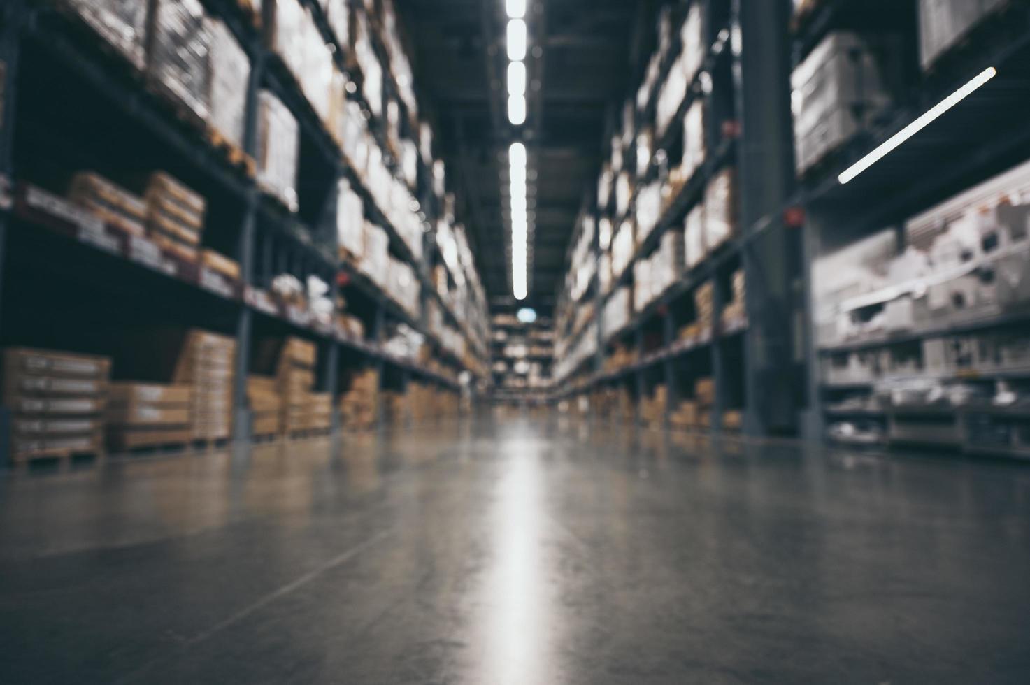 Aisle of warehouse photo