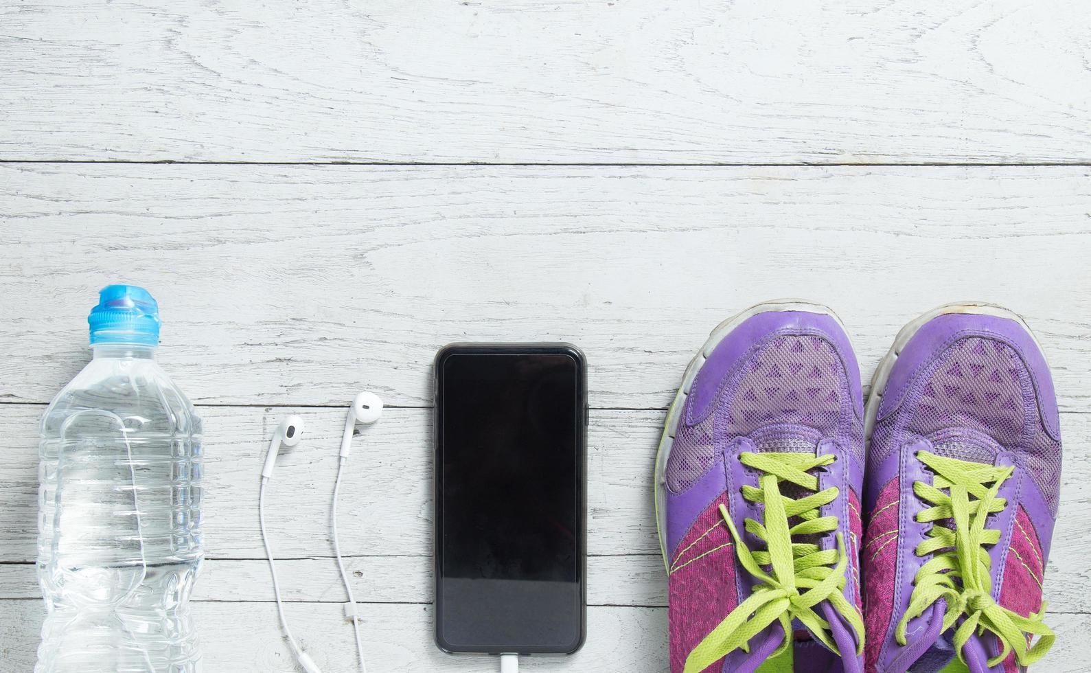 Sport flat lay workout gear photo
