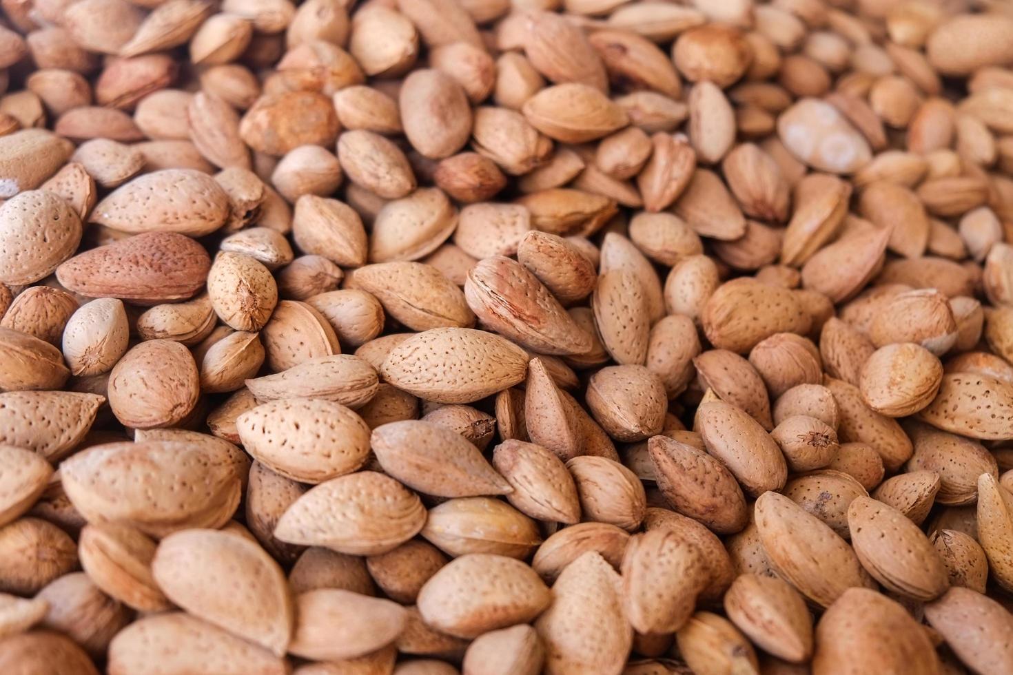 Heap of whole almonds  photo