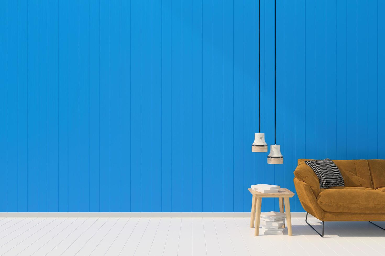 Blue living room  photo