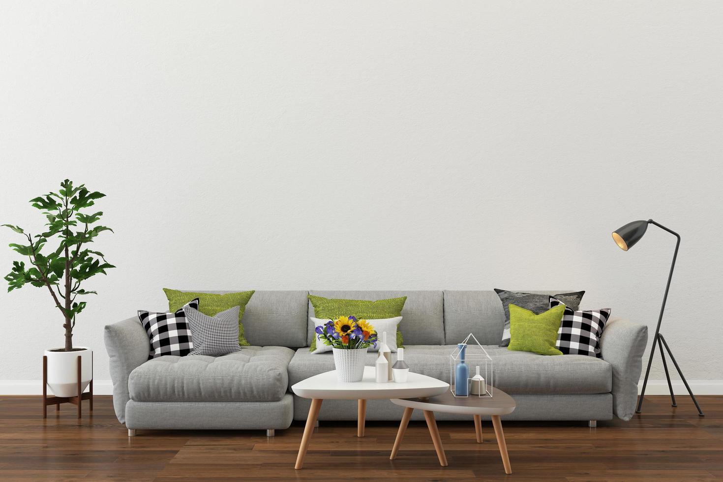 Modern living room setting photo