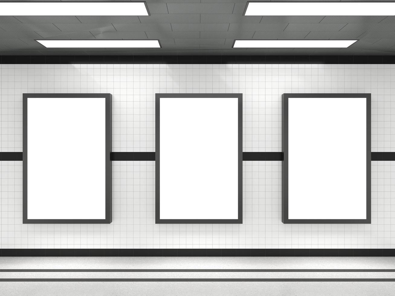 Subway poster mockups photo