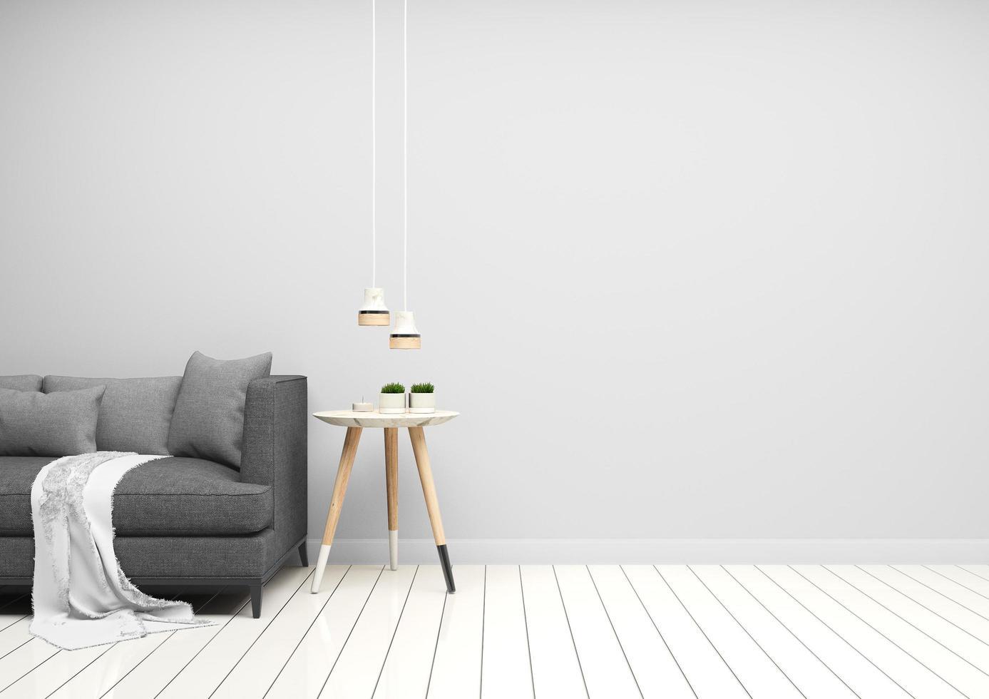 sala de estar moderna gris foto