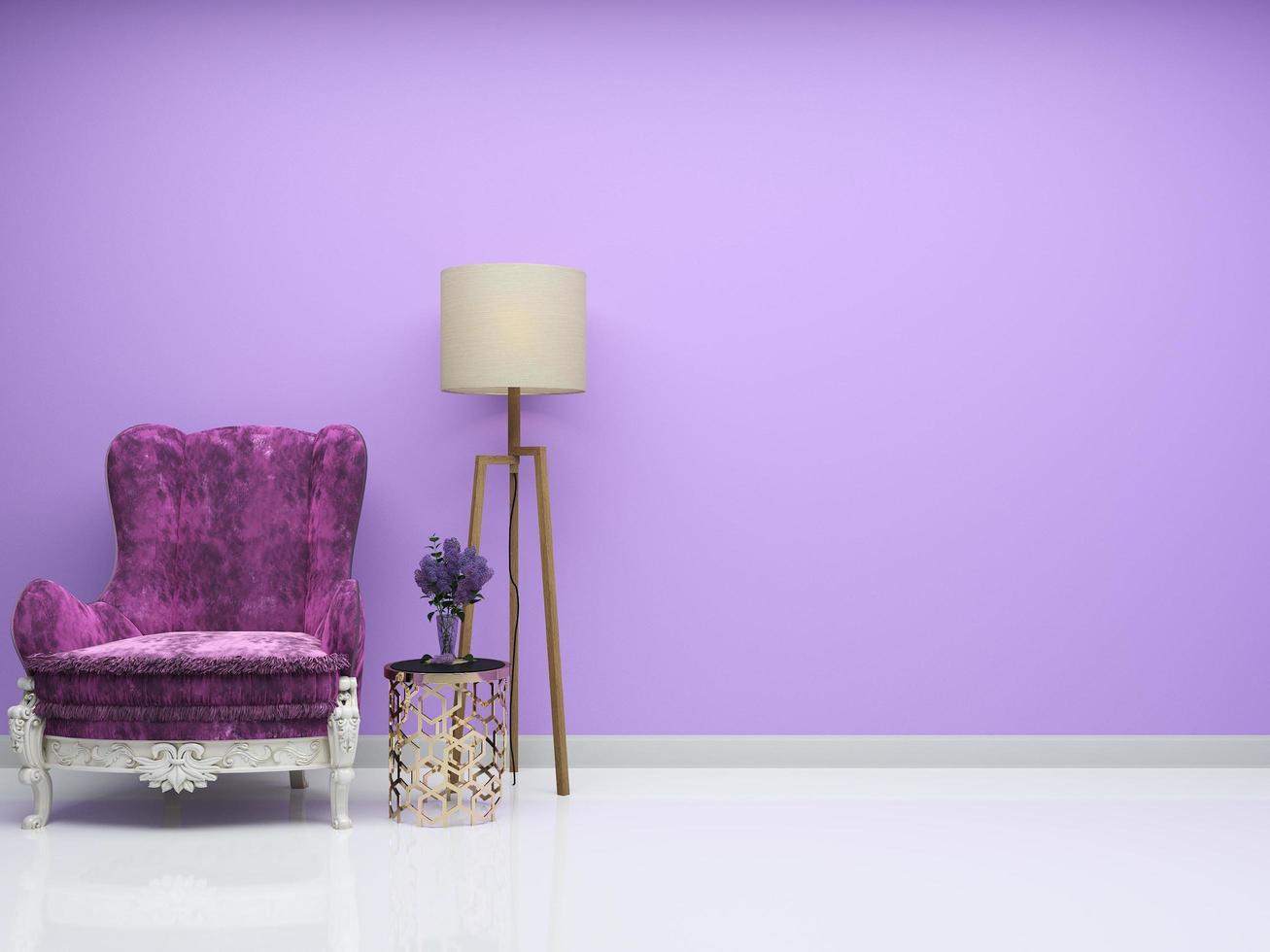 sala de estar púrpura foto