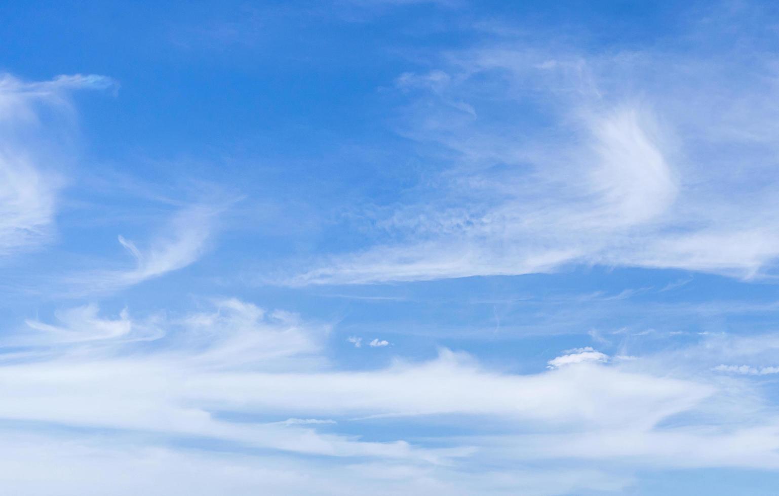 Blue cloudy sky photo