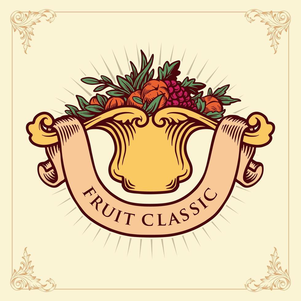 Fruits Classic Badge  vector