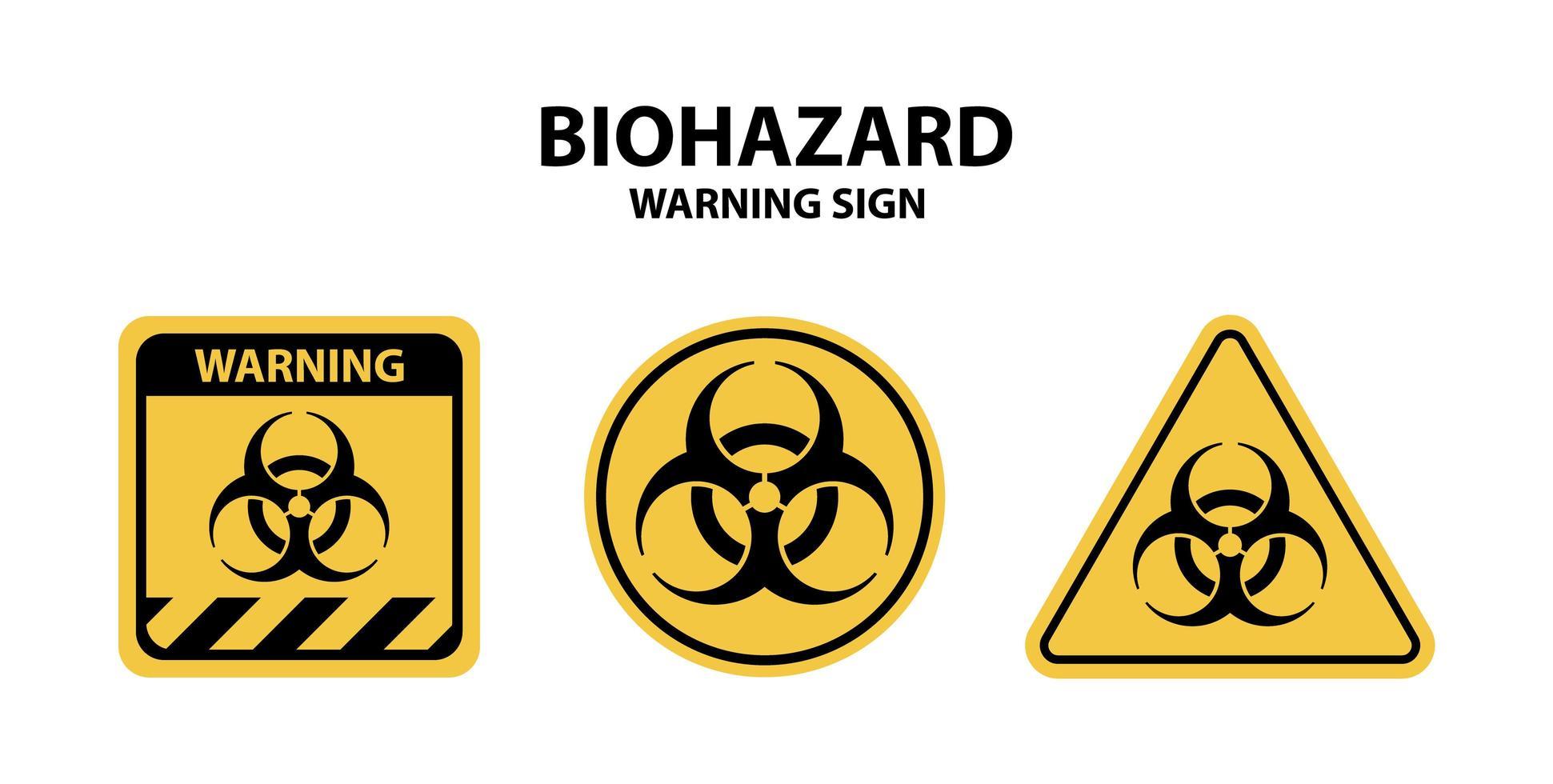 colección de señales de advertencia de riesgo biológico vector