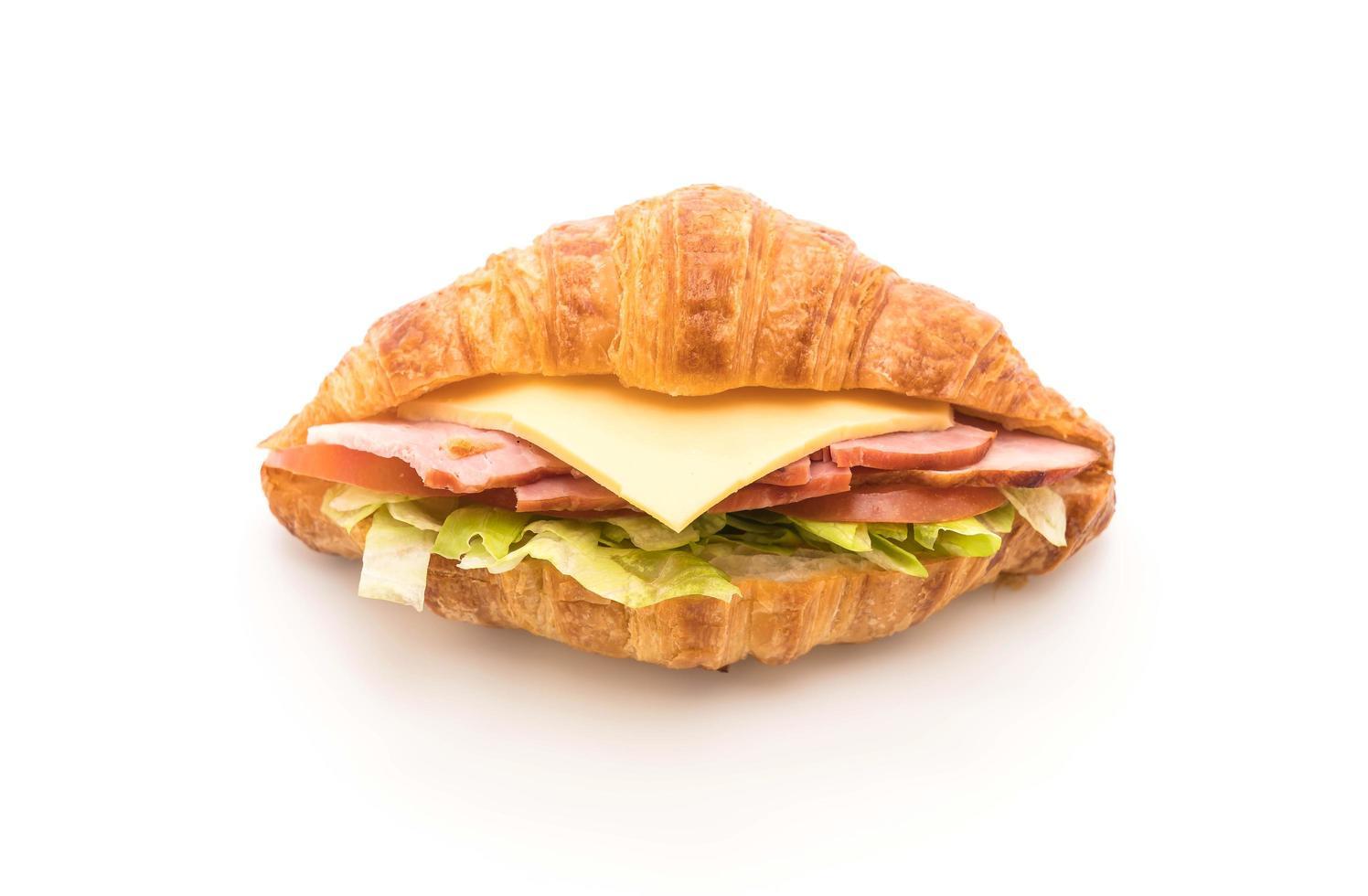 disparo de sandwich croissant foto