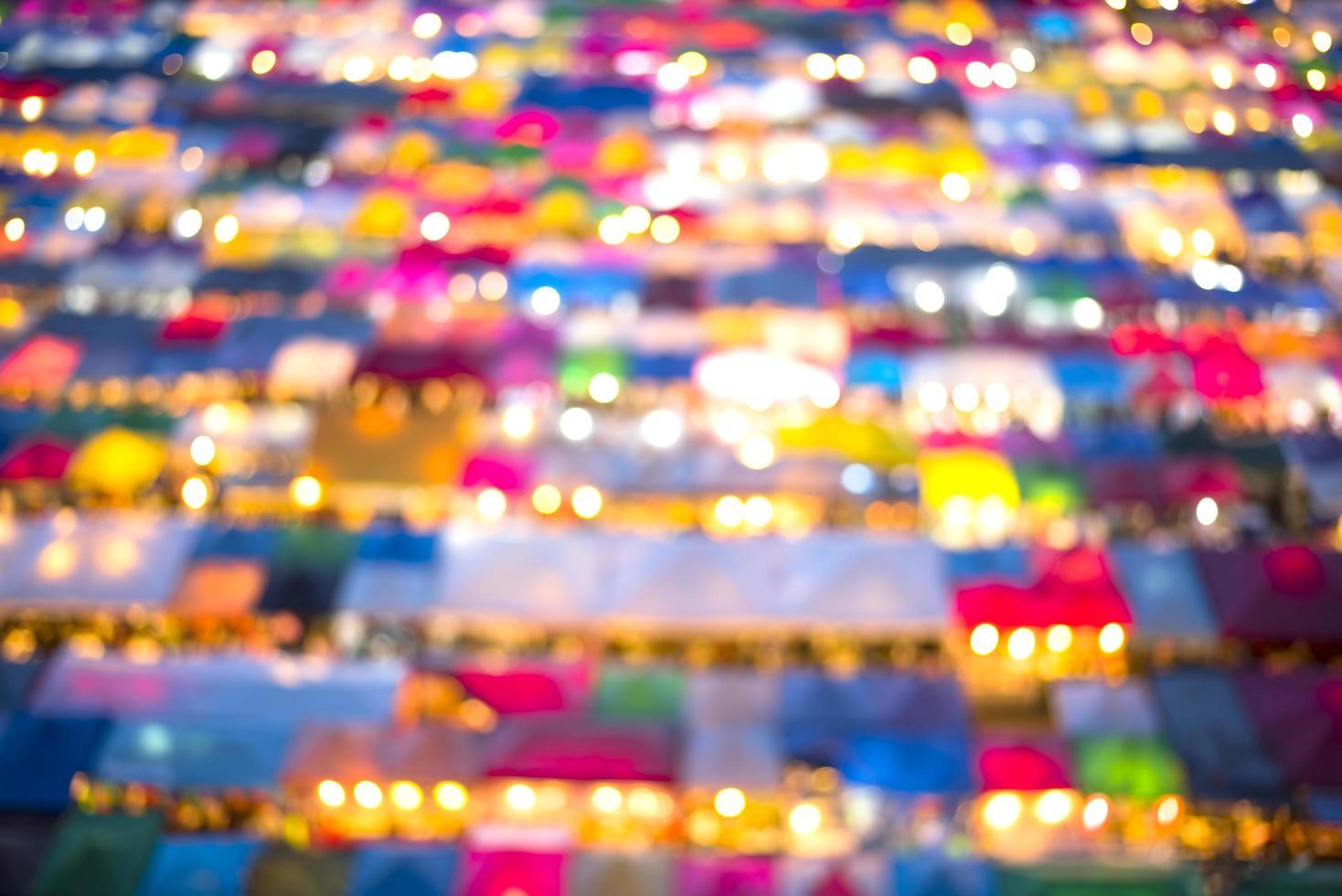 Colorful outdoor market bokeh photo