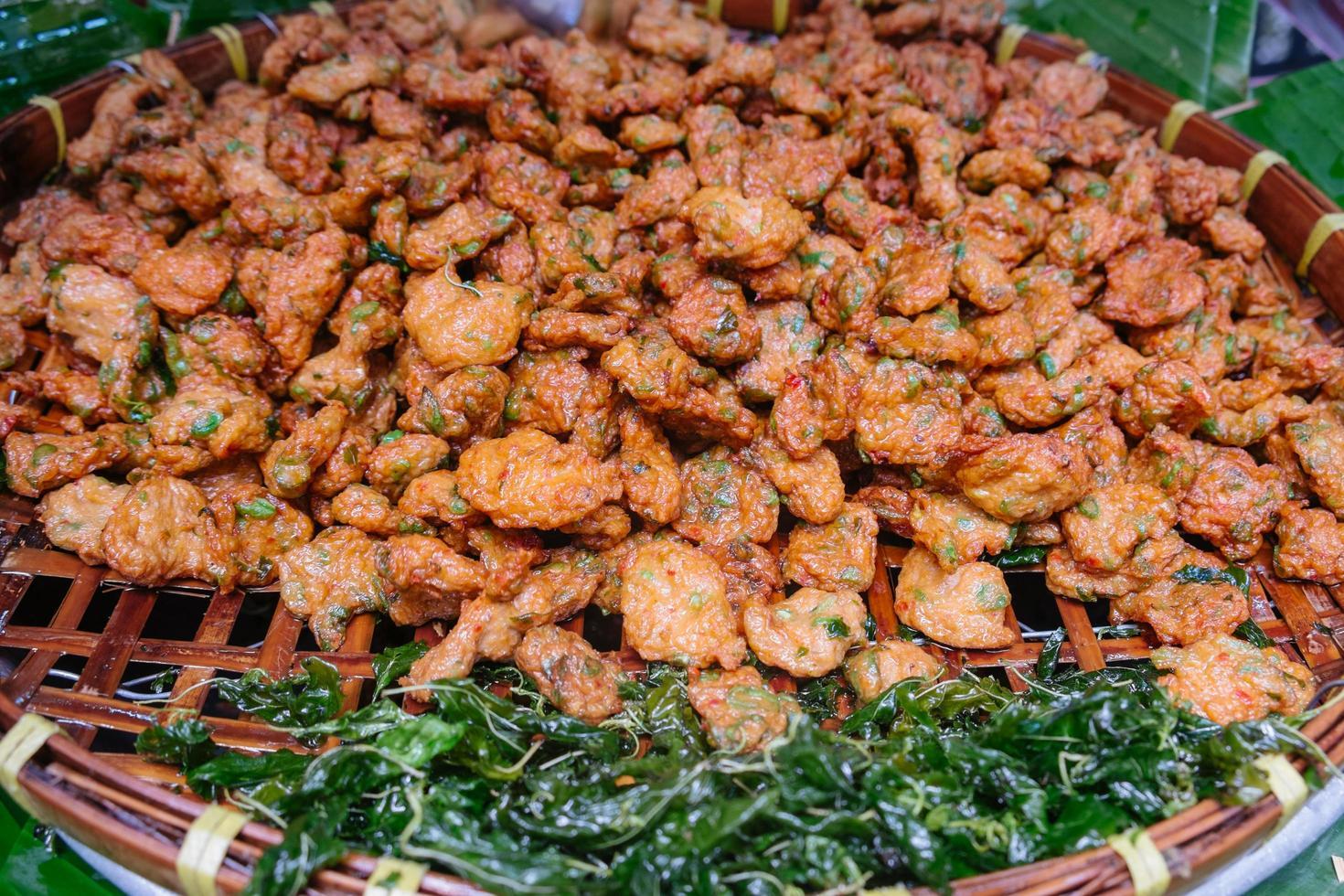Tod Mun Pla, Thai authentic local food photo
